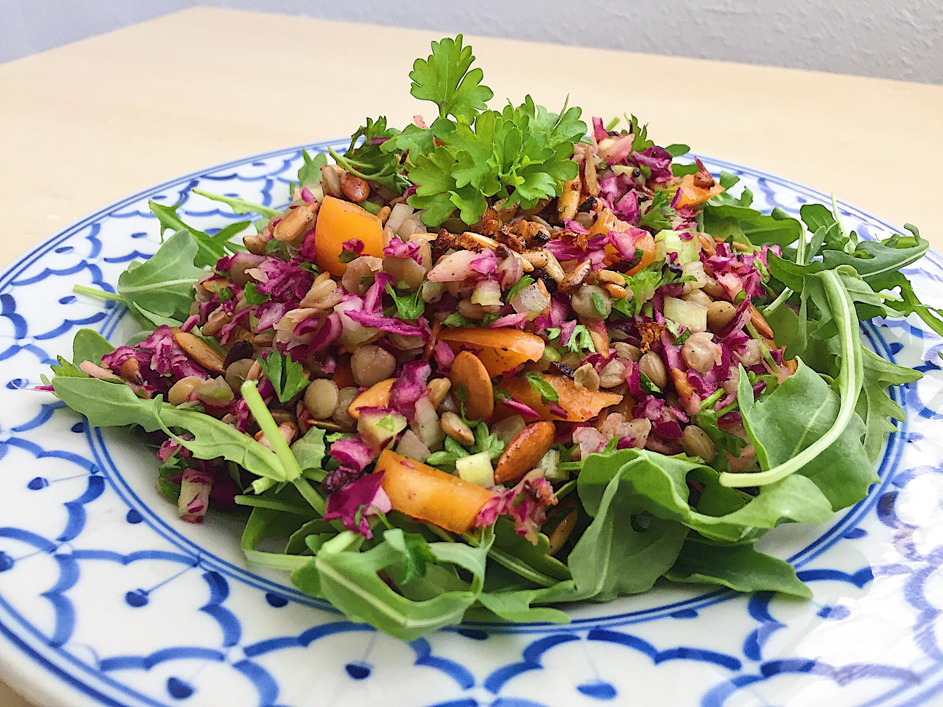 Super Salada de Lentilha com Rúcula